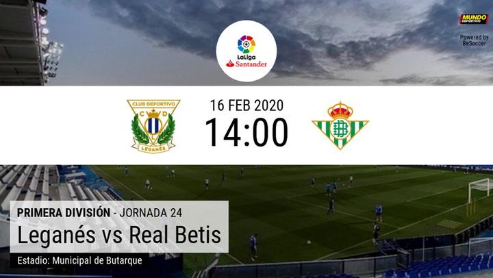 Leganés - Real Betis: las estadísticas de la previa
