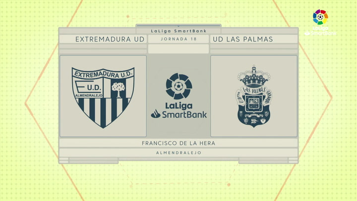 LaLiga SmartBank (J18): Resumen y gol del Extremadura 0-1 Las Palmas