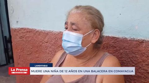 Muere una niña de 12 años en una balacera en Comayagua