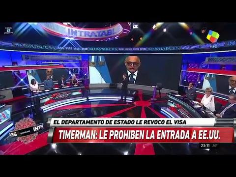 Estados Unidos le revocó la visa al excanciller Timerman