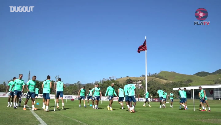 Flamengo's last session before the match against Atlético-GO