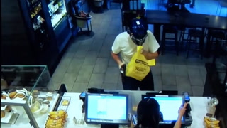 Customer lays brutal smack down on would-be robber at Starbucks
