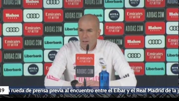 Rueda de prensa de Zidane previa al Eibar - Real Madrid