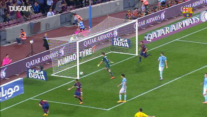 Messi notches 250th LaLiga Goal against Eibar at Camp Nou