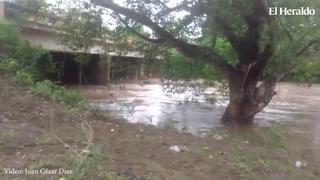 Río Humuya en Comayagua alcanza niveles de alerta por lluvias