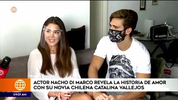 La historia de amor del actor Ignacio Di Marco y su novia chilena Catalina Vallejo