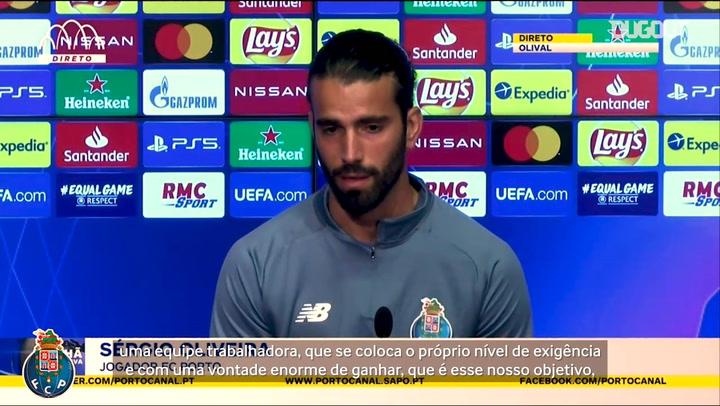 """Sérgio Oliveira promete """"máxima intensidade"""" do Porto contra o Marseille na Champions"""