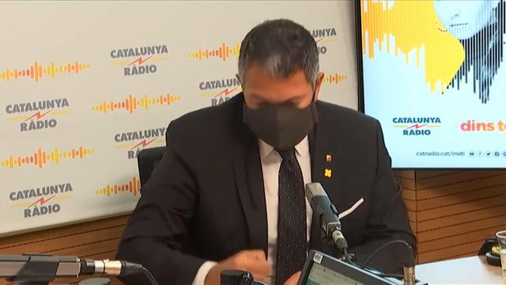 El confinamiento comarcal se mantendrá a partir del lunes según Miquel Samper, Conseller d'Interior
