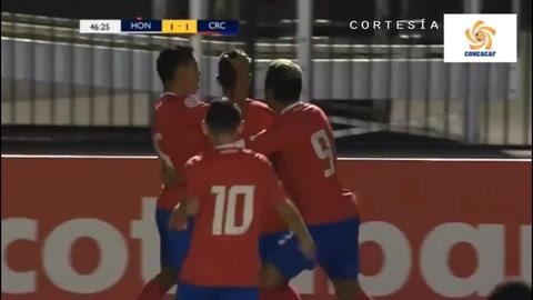 Costa Rica anota y empata el juego ante la H por Premundial Sub 20