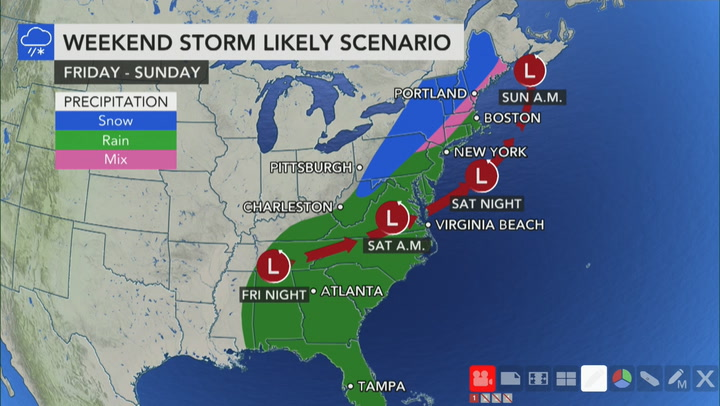 'Ingredients coming together' for weekend storm