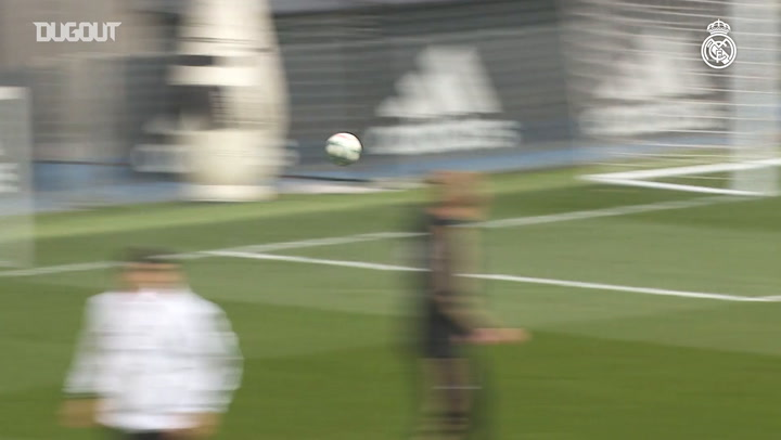 Real Madrid's first training session ahead of Espanyol