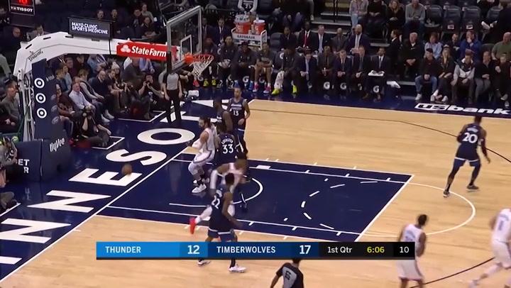 Gilgeous-Alexander (Thunder), el más destacado de la jornada de la NBA del 13 de enero 2020