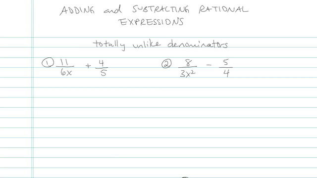 Adding and Subtracting Rational Expressions - Problem 7