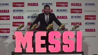 Messi recibe su quinta Bota de Oro, el único en conseguirlo