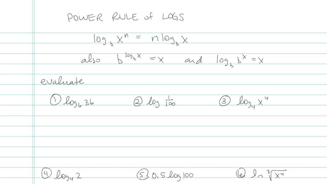Power Rule of Logarithms - Problem 3