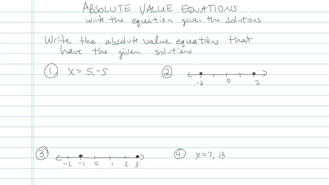 Absolute Value Equations - Problem 8