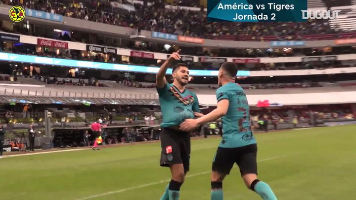Club América's goals so far in the 2020 Clausura