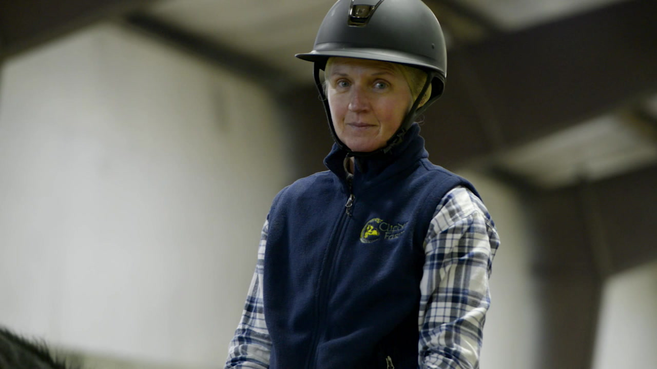 Aislinn Bujewski on her horse