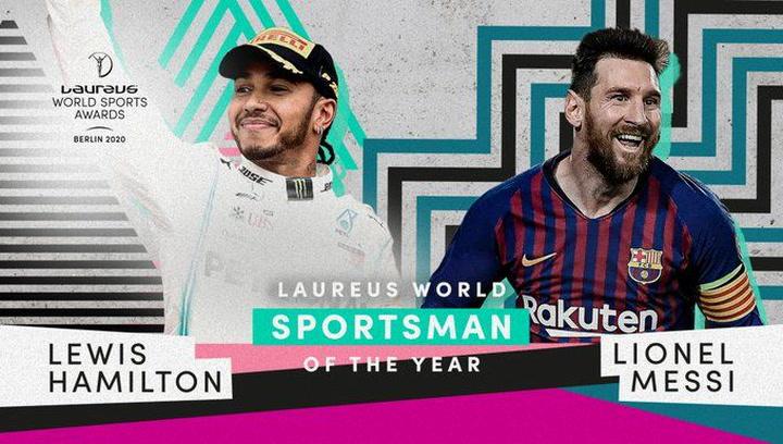 Messi, elegido Deportista del Año junto a Lewis Hamilton en los Laureus