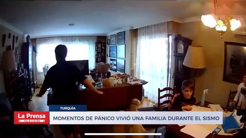 Video: Momentos de pánico vivió una familia durante el sismo