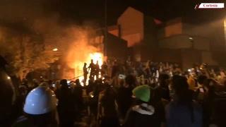 Queman tercera posta policial en protestas en Minneapolis
