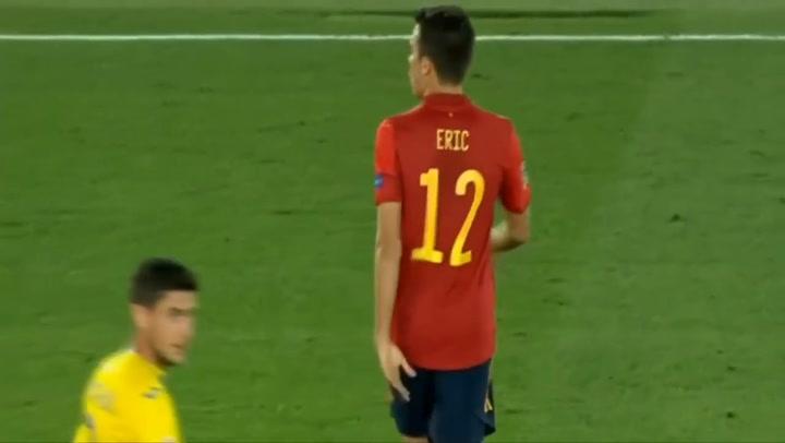 Eric García (19) debutó con la selección ante Ucrania