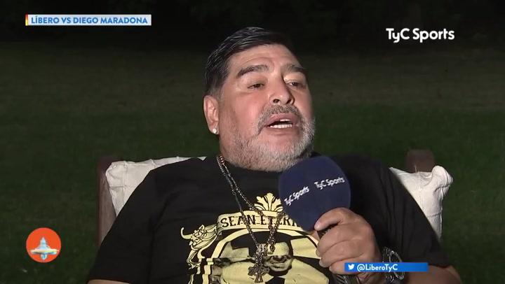 "Maradona: ""Yo jamás me enfrentaría a Messi"""