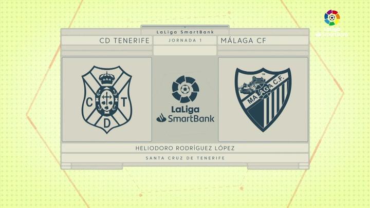 LaLiga SmartBank (J1): Resumen y goles del Tenerife 2-0 Málaga