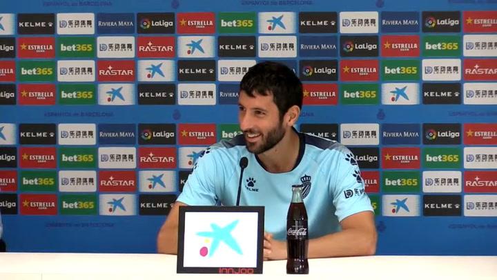 La rueda de prensa de Esteban Granero (Espanyol)