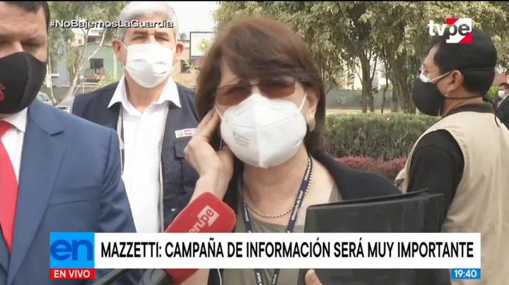 Ministra de Salud anuncia campaña de información ante rechazo a la vacunación contra el COVID | VIDEO