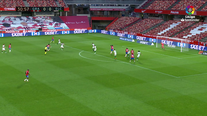 Gol de Domingos Quina en el Granada 2-1 Elche