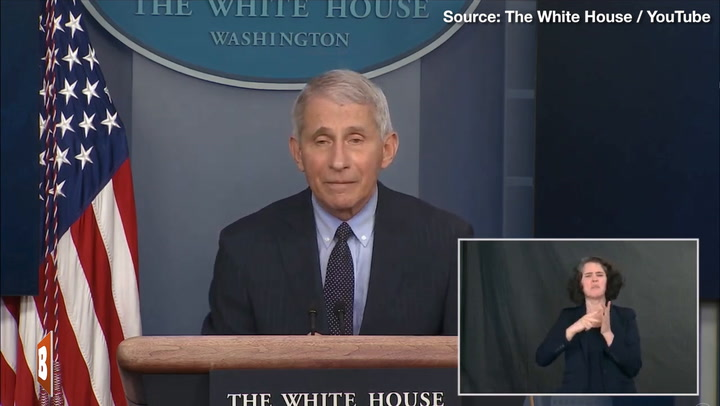 Setting a Bad Example? Dr. Fauci Doesn't Wear Mask at Press Briefing Podium