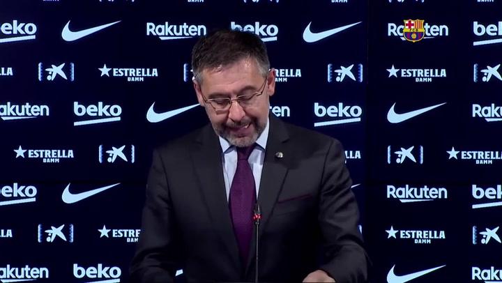 """Bartomeu: """"Hemos aprobado los requerimientos para jugar una Superliga europea"""""""