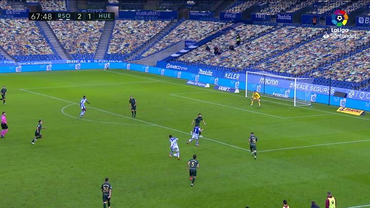 Gol de Portu (3-1) en el Real Sociedad 4-1 Huesca