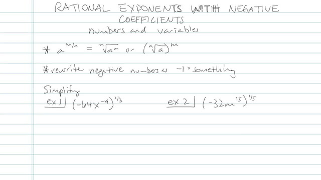 Rational Exponents with Negative Coefficients - Problem 5