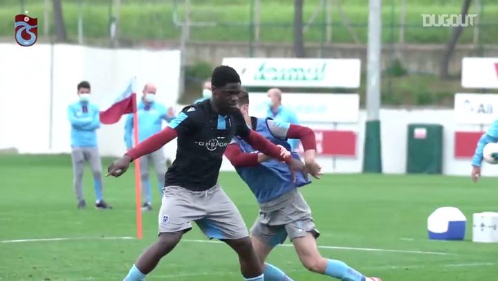 Trabzonspor'da Nefes Kesen Antrenman