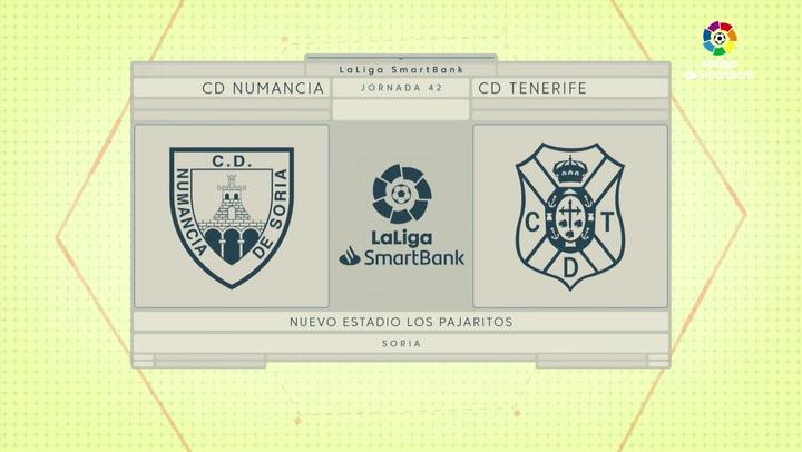 LaLiga Smartbank (Jornada 42): Numancia 2-1 Tenerife