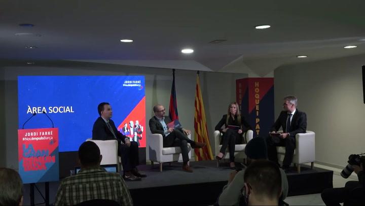 Jordi Farré, candidato a la presidencia del Barça, presenta sus principales propuestas
