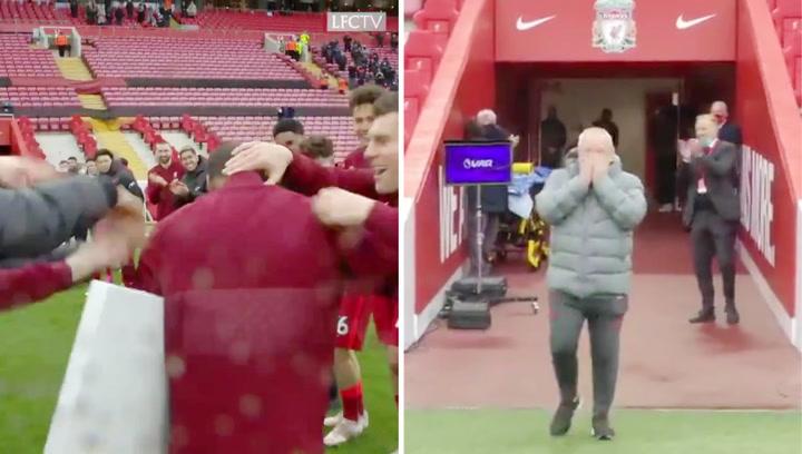 La emotiva despedida de 'Gini' Wijnaldum y del utillero más veterano del Liverpool