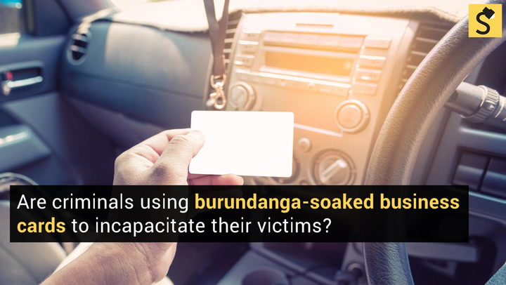 Fact check burundangascopolamine warning criminals in the us are not using burundanga soaked business cards to incapacitate their victims despite a recurrent warning colourmoves