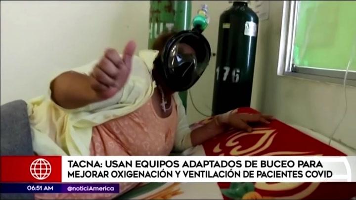 Tacna: adaptan equipos de buceo para mejorar oxigenación de pacientes covid-19