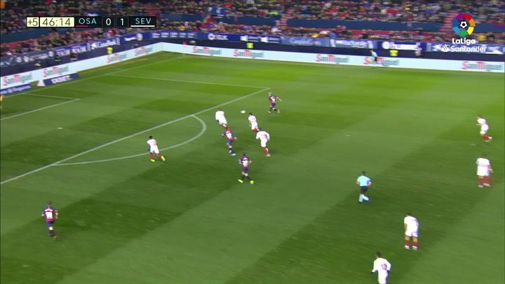 Gol de Chimy Ávila (1-1) en el Osasuna 1-1 Sevilla