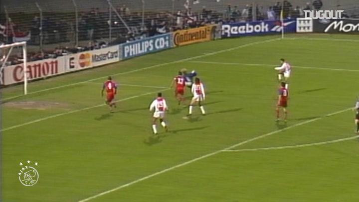 El gol de Marc Overmars ante el Bayern de Múnich