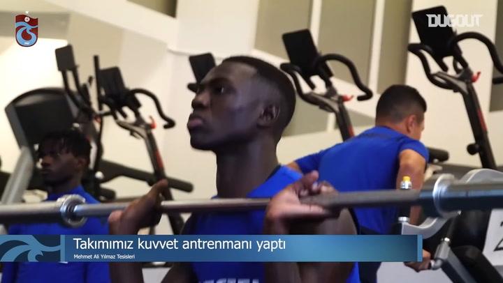 Trabzonspor'un Kuvvet Antrenmanı