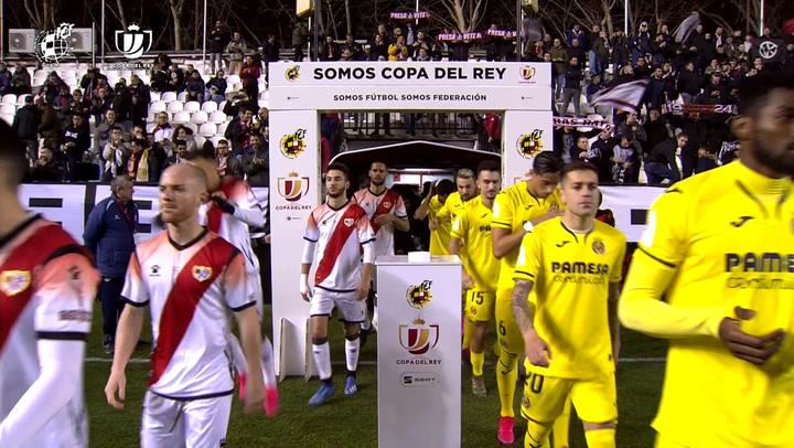 El resumen del Rayo Vallecano - Villarreal de octavos de Copa del Rey