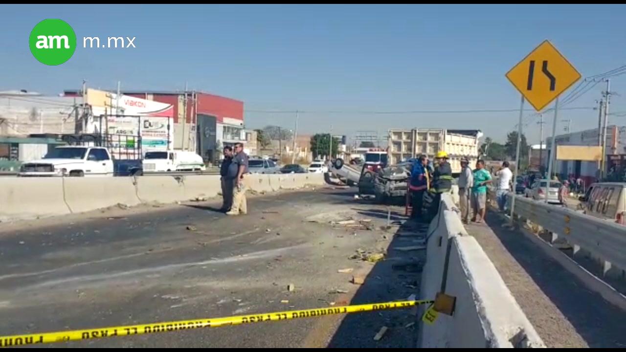 Accidente en la Salvatierra-Celaya deja cuatro lesionados
