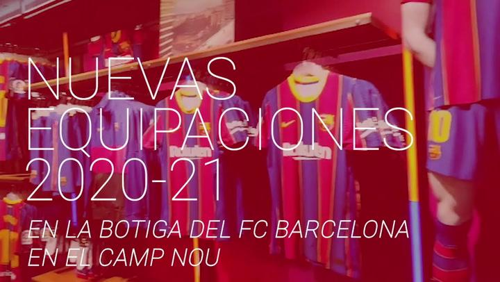 Las nuevas equipaciones 2021-21, a la venta en la Botiga del Barça