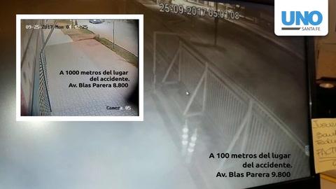 Dos videos muestran al mismo auto detrás de la moto de Romina Pacheco antes del choque