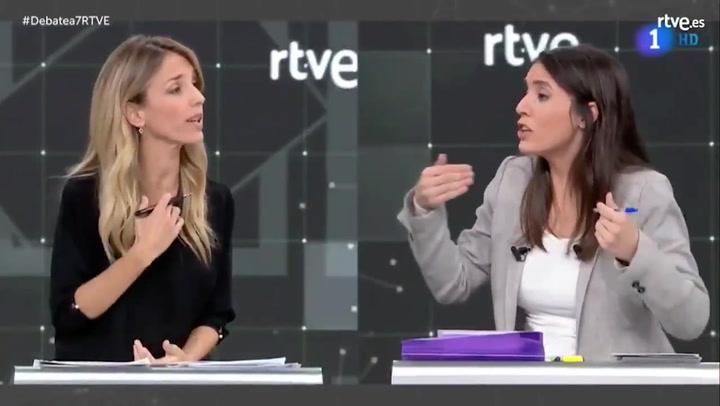 El rifirrafe entre Cayetana Álvarez de Toledo e Irene Montero por el consentimiento sexual en el Debate a 7 de RTVE