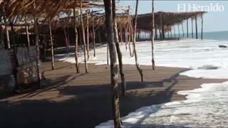 Fenómeno conocido como ¨Mar de Fondo¨ golpea playas de Cedeño